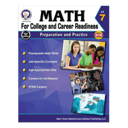Carson-Dellosa Math For College And Career Readiness Workbook, Grade 7
