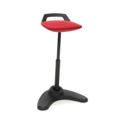 OFM Vivo Height-Adjustable Perch Stool, Red/Black