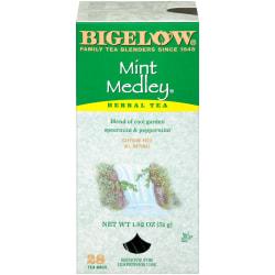 Bigelow® Mint Medley® Tea Bags, Box Of 28