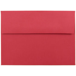"""JAM Paper® Booklet Invitation Envelopes (Recycled), A7, 5 1/4"""" x 7 1/4"""", 30% Recycled, Red, Pack Of 25"""