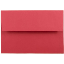 "JAM Paper® Booklet Invitation Envelopes (Recycled), A8, 5 1/2"" x 8 1/8"", 30% Recycled, Red, Pack Of 25"