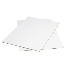 "Office Depot® Brand Corrugated Sheets, 48"" x 48"", White, Pack Of 5"