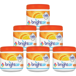 Bright Air Super Odor Eliminator Air Fresheners, Mandarin Orange/Fresh Lemon Scent, 14 Oz, Pack Of 6