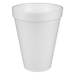 Dart® Insulated Foam Drinking Cups, White, 12 Oz, Box Of 1,000