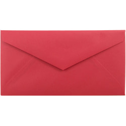 """JAM Paper® Booklet Envelopes, #7 3/4 Monarch, Straight Flap, 3 7/8"""" x 7 1/2"""", 30% Recycled, Red, Pack Of 25"""