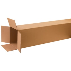 """Office Depot® Brand Tall Corrugated Boxes 10"""" x 10"""" x 60"""", Bundle of 15"""