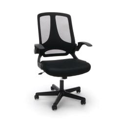 Essentials By OFM Flip-Arm Mesh High-Back Chair, Black