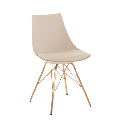 Office Star™ Avenue Six Oakley Chair, Cream/Gold Chrome