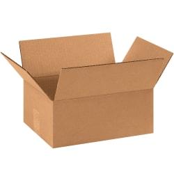 "Office Depot® Brand Flat Corrugated Boxes, 11 1/4"" x 8 3/4"" x 4"", Kraft, Bundle of 25"