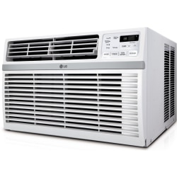 LG 24500 BTU Window Air Conditioner - Cooler - 7180.24 W Cooling Capacity - 1560 Sq. ft. Coverage - Dehumidifier - Washable - Remote Control - Energy Star - White