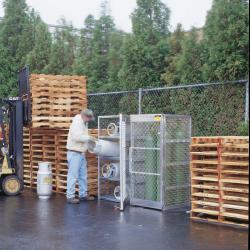 Justrite Cylinder Storage Locker, 5 - 10 Cylinders