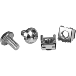 StarTech.com M6 Mounting Screws & Cage Nuts For Server Rack Cabinet, Pack Of 100