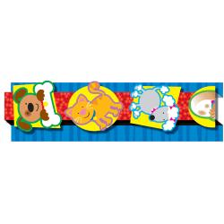 "Carson-Dellosa Pop-Its™ Borders — Dogs & Cats, 3""H x 36""L, Pack Of 8"