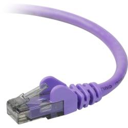Belkin Cat.6 UTP Cable - RJ-45 Male - RJ-45 Male - 3ft - Purple