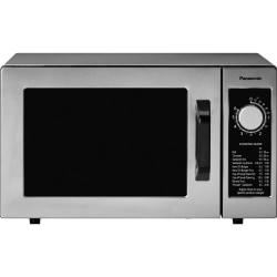Panasonic 1000 Watt Commercial Microwave Oven NE-1025F - Single - 5.98 gal Capacity - Microwave - 1000 W Microwave Power - 120 V AC - Stainless Steel - Countertop - Stainless Steel