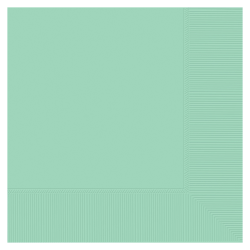 """Amscan 2-ply Lunch Napkins, 6-1/2"""" x 6-1/2"""", Cool Mint, Pack Of 250 Napkins"""