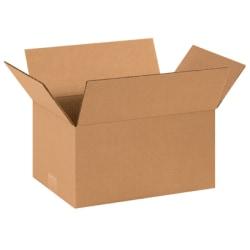 14in(L) x 10in(W) x 7in(D) - Corrugated Shipping Boxes