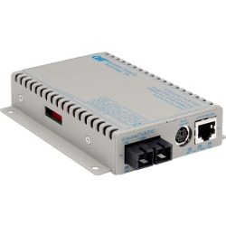 Omnitron Systems iConverter GX/TM2 Media Converter - 1 x Network (RJ-45) - 1 x SC Ports - 10/100/1000Base-T, 1000Base-X - Wall Mountable