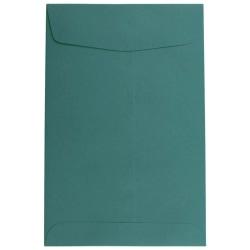 "JAM Paper® Open-End Catalog Envelopes With Gummed Closure, 6"" x 9"", Teal, Pack Of 10"