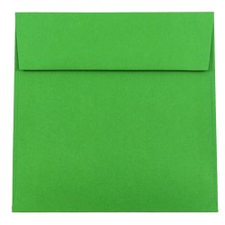 """JAM Paper® Color Square Invitation Envelopes, 6 1/2"""" x 6 1/2"""", 30% Recycled, Green, Pack Of 25"""