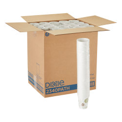 Dixie® Paper Hot Cups, 10 Oz., Pathways Design, Case Of 1,000