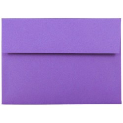 "JAM Paper® Booklet Invitation Envelopes (Recycled), A7, 5 1/4"" x 7 1/4"", 30% Recycled, Violet, Pack Of 25"