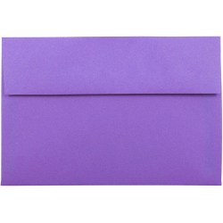 """JAM Paper® Booklet Invitation Envelopes (Recycled), A8, 5 1/2"""" x 8 1/8"""", 30% Recycled, Violet, Pack Of 25"""