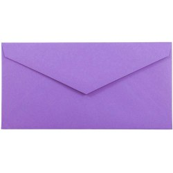 """JAM Paper® Booklet Envelopes, #7 3/4 Monarch, Straight Flap, 3 7/8"""" x 7 1/2"""", 30% Recycled, Violet, Pack Of 25"""