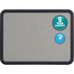 "Quartet® Cork Bulletin Board, 48"" x 36"", Plastic Frame With Black Finish"