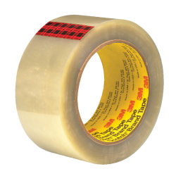 """3M™ 351 Carton Sealing Tape, 3"""" Core, 2"""" x 55 Yd., Clear, Case Of 36"""