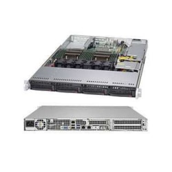 Supermicro SuperServer 6018R-TDW Barebone System - 1U Rack-mountable - Intel C612 Express Chipset - Socket LGA 2011-v3 - 2 x Processor Support - Black - 1 TB DDR4 SDRAM DDR4-2133/PC4-17000 Maximum RAM Support - Serial ATA/600 RAID Supported Controller