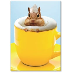 """Viabella Thank You Greeting Card, Latte, 5"""" x 7"""", Multicolor"""