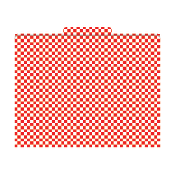 """Barker Creek Tab File Folders, 8 1/2"""" x 11"""", Letter Size, Red Check, Pack Of 12"""