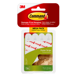 Command™ Poster Strips, Pack Of 136 Strips