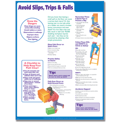 """ComplyRight™ Avoid Slips,Trips And Falls Poster, English, 18"""" x 24"""""""