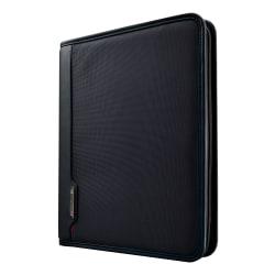 "Samsonite Xenon 3 Padfolio With Writing Pad, 13-1/2""H x 11""W x 1-5/8""D, Black"
