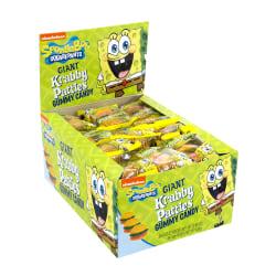 SpongeBob Giant Krabby Patty Gummy Candy, 0.7 Oz Packs, Box Of 36 Packs