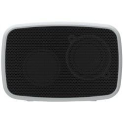 Ematic Rugged Life Portable Bluetooth Speaker System - Silver - Battery Rechargeable - USB