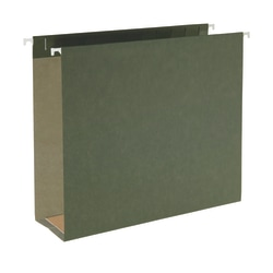 """Smead® Hanging Box-Bottom File Folders, 3"""" Expansion, Letter Size, Standard Green, Box Of 25"""