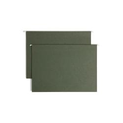 "Smead® Premium Box-Bottom Hanging File Folders, 3"" Expansion, Legal Size, Standard Green, Box Of 25 Folders"