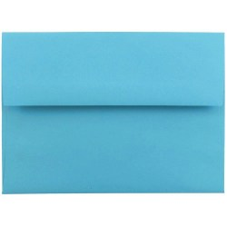 """JAM Paper® Booklet Invitation Envelopes (Recycled), A6, 4 3/4"""" x 6 1/2"""", 30% Recycled, Blue, Pack Of 25"""