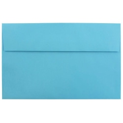 "JAM Paper® Booklet Invitation Envelopes, A10, 6"" x 9 1/2"", 30% Recycled, Blue, Pack Of 25"
