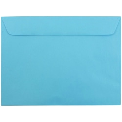 """JAM Paper® Booklet Envelopes With Gummed Closure, 9"""" x 12"""", 30% Recycled, Blue, Pack Of 25"""