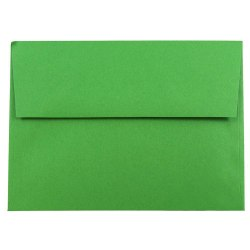 "JAM Paper® Booklet Invitation Envelopes, A7, 5 1/4"" x 7 1/4"", 30% Recycled, Green, Pack Of 25"