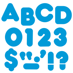 """TREND Ready Letters®, 4"""", Casual Letters/Numbers, Blue, Pre-K - Grade 8, Pack Of 72"""
