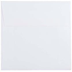 """JAM Paper® Square Invitation Envelopes, 5 1/2"""" x 5 1/2"""", White, Pack Of 25"""