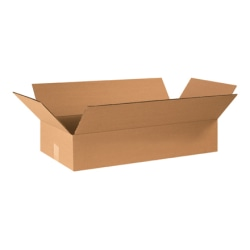 "Office Depot® Brand Flat Corrugated Boxes 24"" x 12"" x 4"", Bundle of 25"