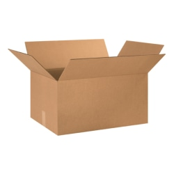 """Office Depot® Brand Corrugated Boxes 24"""" x 17"""" x 12"""", Bundle of 15"""