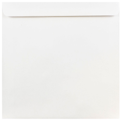 "JAM Paper® Square Invitation Envelopes, #9, 9"" x 9"", White, Pack Of 25"