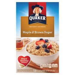 Quaker® Instant Oatmeal, Maple Brown Sugar, 1.5 Oz, Box Of 10